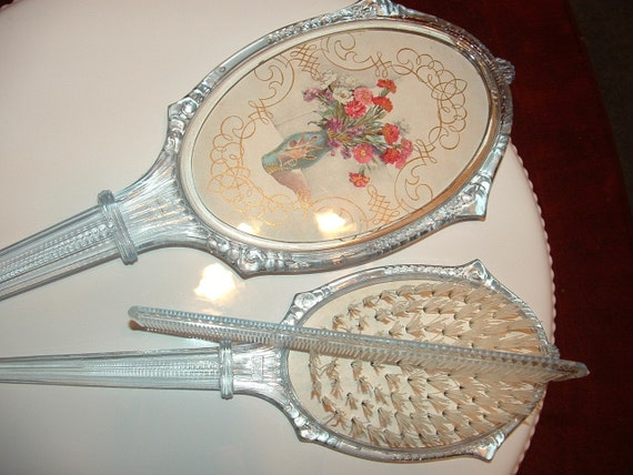 1950s Vanity Mirror Brush And Comb Set By Buybackthefarm