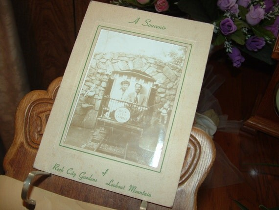 Sale......1947 Polaroid Land Camera Family Souvenir Photo at Rock City Gardens of Lookout Mountains in Tennessee
