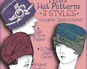 Vintage 1920's Flapper Hat CLOCHE Turban e-Patterns PDF (Marjorie Set)