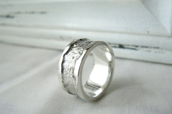 Rocky Road - Men Sterling silver Ring - Size 10 to 12 - READY TO SHIP