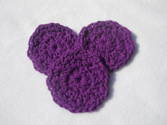 Relay for Life Cancer Research Crocheted Facial Scrubbies Car Coasters One Set You Pick