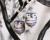 Life's A Hoot - Ceramic Owl Earrings