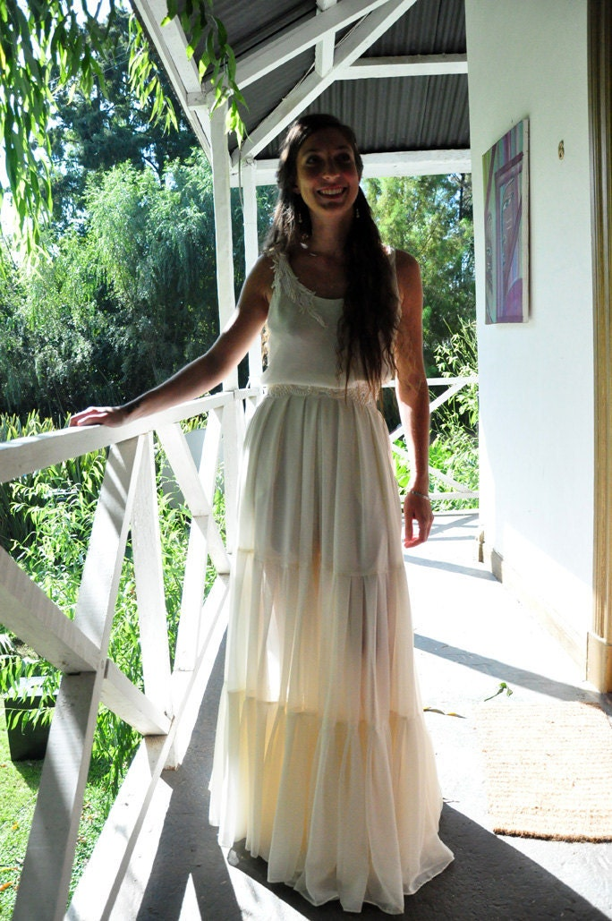 boho hippie-chic wedding dress