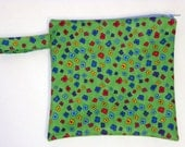 SALE was12 now 9 Small PUL Wetbag in Green Flowers