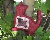 Cat Plush Pillow/ Americana Kitty - Roger