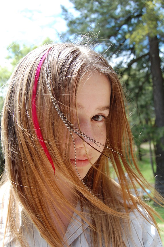 Feather Hair Extension Kit -6 extensions included