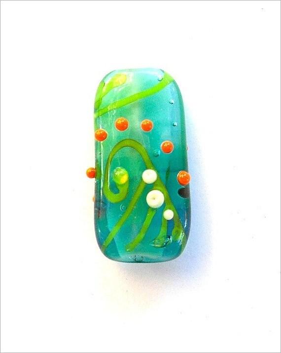 Lampwork Focal Bead- NB - Water Games - Glass beads supplies.