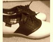 Black and white saddle shoes size 6.5