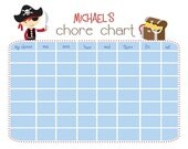 Pirate Chore Chart Printable