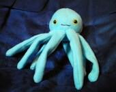 Blue octopidder it's a cuddly blue octopus