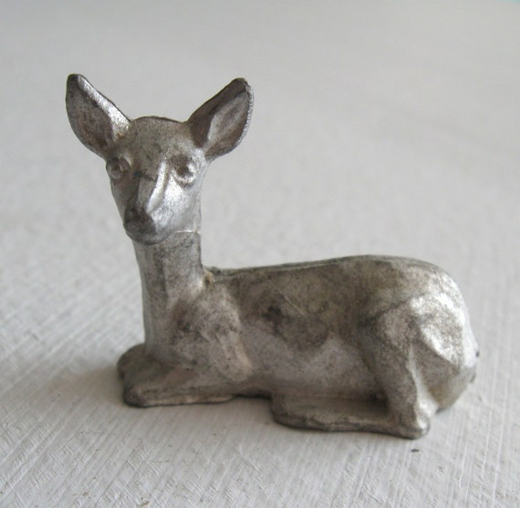 Oh Dear - Three Miniature Pewter Metal Deers- Perfect for Terrariums