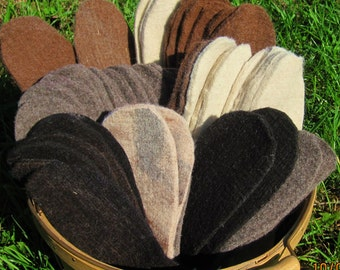 Alpaca Felt Insoles Shoe Pair Inserts Boot Liners Ship Immediately! Buy 3 Pair & Save