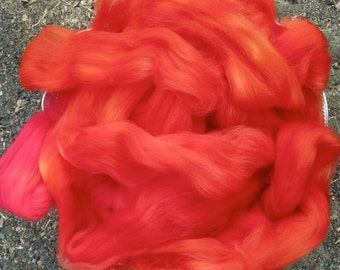 Firebrand Superwash Longwool Hand Painted for Spinners and Felters