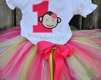 Birthday Monkey Tutu Outfit