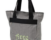 Personalized Tall Tote Bag (HOUNDSTOOTH)