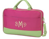 Personalized Laptop Bag (PINK & GREEN)