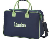 Personalized Small Travel Bag (NAVY w/ LIME)