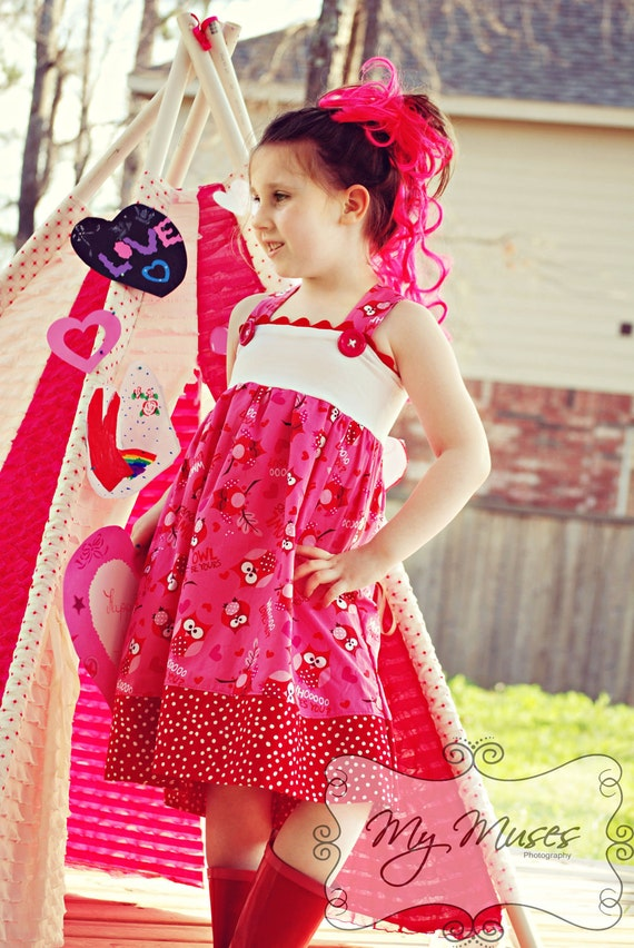 Boutique Crazy Cute Jumper PDF / Pattern, size 18m to 12, tunic or dress, buttons or snaps