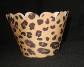 12 Leopard print jungle diva birthday party cupcake wrappers wraps Low Shipping