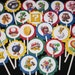 12 Super Mario inspired Birthday Party cupcake toppers
