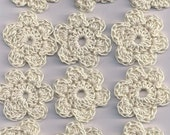 Free Shipping Lot of 12 crochet flowers for crafts