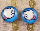 Post Earrings Kirby 8-bit