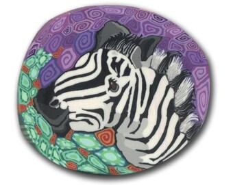 Zebra- Polymer Clay Cane- Silly Milly Large