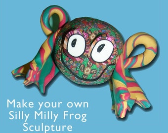 Frog Silly Milly Sculpture Kit- Polymer Clay