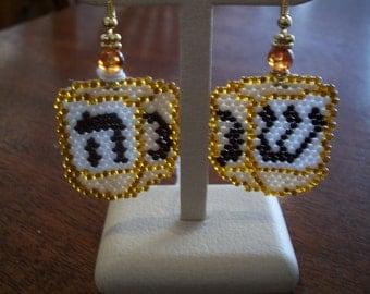 dreidel earrings