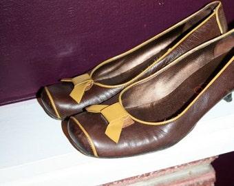 SALE- Beautiful Italian Leather Lady Pumps- Size 8.5/9 US