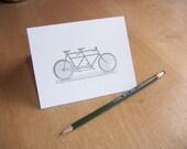 The Tandem - letterpress card