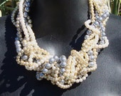 Sea Coral- Twisted Pearl Necklace- Bridal Jewelry/ Bridesmaid jewelry by AshleeCollection on Etsy