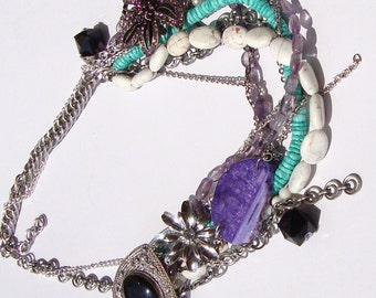 Lexy- Mixed Gemstone with Vintage Findings on Etsy by Ashlee Collection