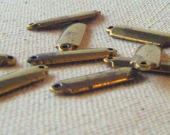 Vintage Solid Brass Connectors (10) Steampunk, Patina