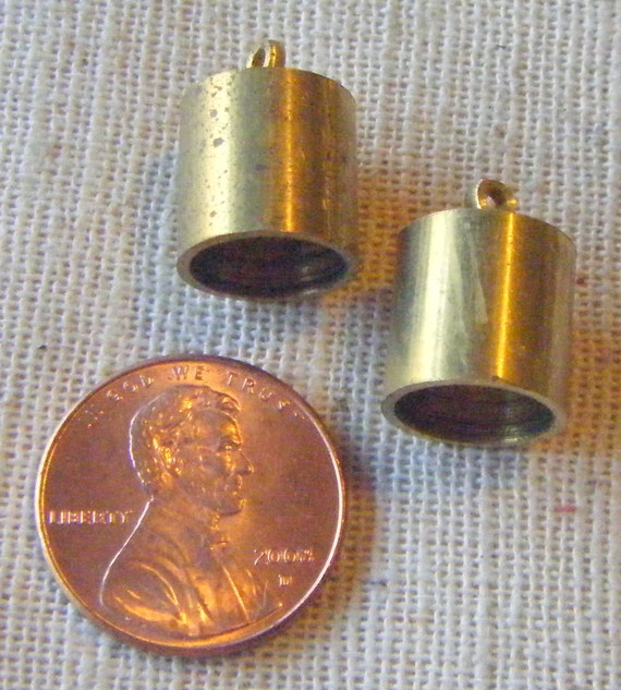 Vintage Deep Solid Brass End Cap (6) Steampunk, Patina