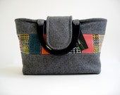Grey Wool Carry-All