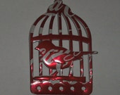 BEAUTIFUL birdcage coke coca cola caged bird recycled upcycled Christmas tree or as a magnet