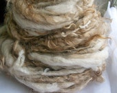 "Handspun Alpaca/Mohair Yarn, ""Chocolate Frosty"""