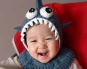Shark Coverall Hat 9-18 months