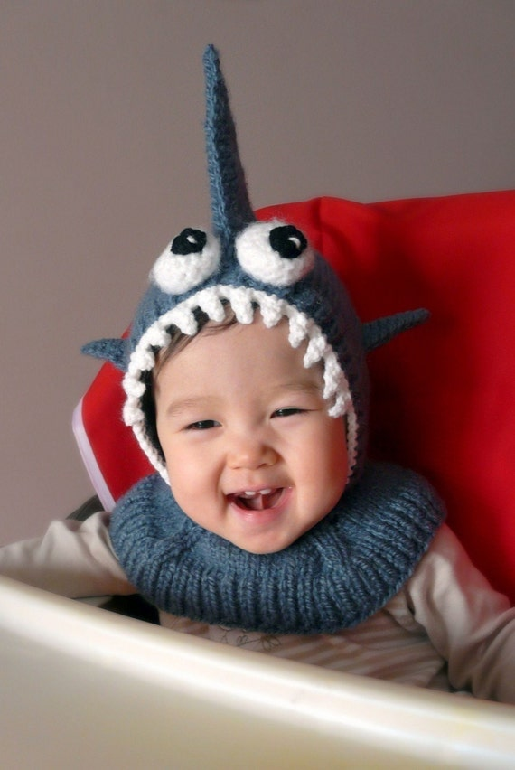 2T-3T Shark Coverall Hat