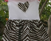 SALE- I Love Zebra- Girls Dress (size 12 months)
