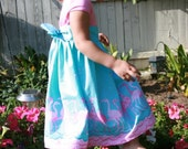 Adorable Pink and Turquoise Flamingo Dress (size 4T)