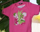 Baby Girl Pink Onsie with Butterfly Applique (size 0-3 months)