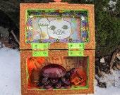 Chinese lucky turtle nicho, altar, folk art
