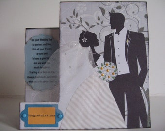 One Congratulations on your nuptial card