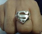 Sterling Silver 925 Superman LOGO RING