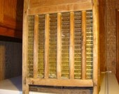 Unique Wall Cabinet Made From Antique 7-Up Crate and Washboard