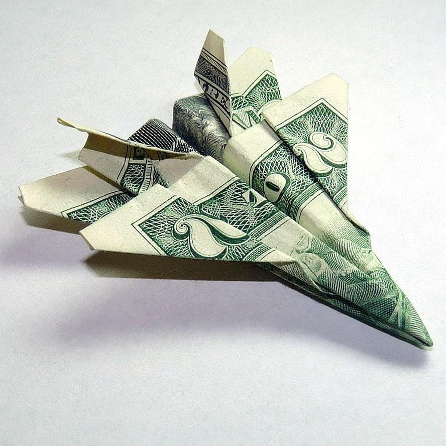 Dollar Origami Two Dollar Jet Fighter F-18 Hornet - photo#36