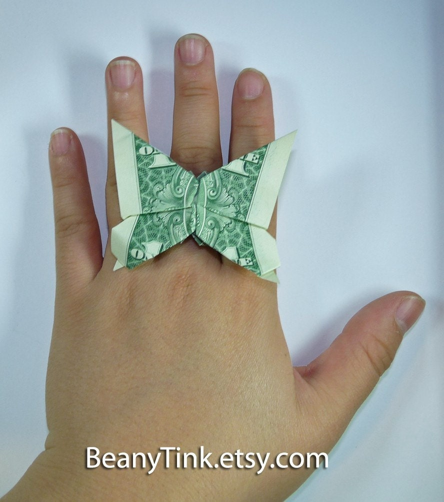 Dollar Origami Butterfly Ring