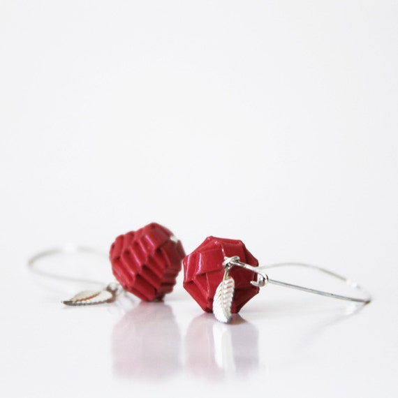 "Paper jewelry - Red Apples ""SnowWhite"""